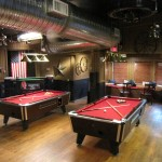 America Live! pool tables after in red