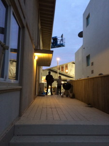 Our corridor to the set