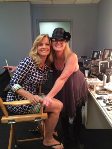 Nancy and Cynthia the lovely makeup artist who looks a lot like my cousin Christine