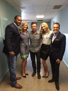 Tarrick, Nancy, Jay, Christina, and Dann before the stage
