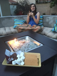 The number one reason for a fire pit.  S'mores.