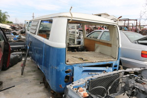 Found this abandoned 1971 VW bus at the the junkyard.