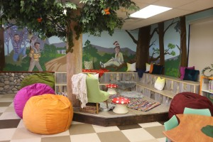 Storytime corner gets fully dressed by Libby and her team