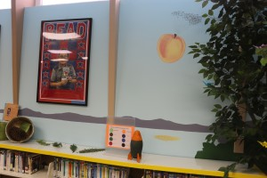 Nancy's tribute to Roald Dahl in the mural inspired by James and the Giant Peach