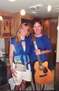 Nancy Hadley and Pete Huttlinger on the set of Extreme Makeover: Home Edition 2005